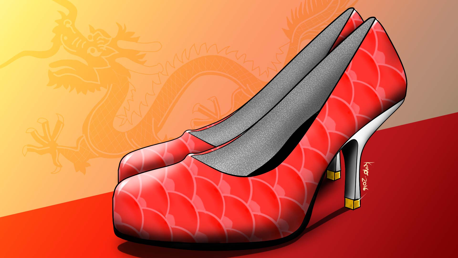 Dragon Heels footwear concept